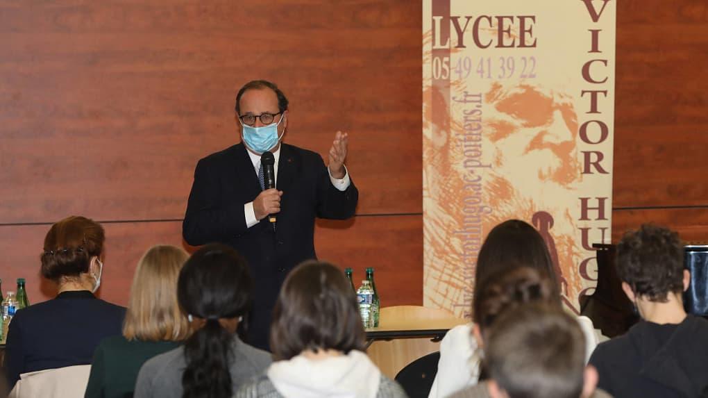 François Hollande au Lycée Victor Hugo